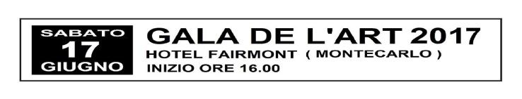 LOCANDINA GALA DE L'ART 2017
